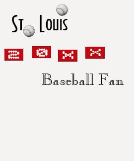 Ladies or Mens St. Louis Baseball Fan Shirt TShirt