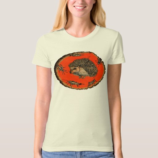 Ladies Organic T-Shirt with Hedgehog (Fitted)