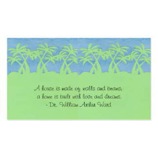 Ladies palm Tree Profile Cards Business Card