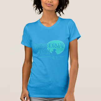 Ladies Paranormal Porch Light Blue Logo Tshirt