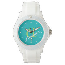 Ladies Personalized Monogram Sporty Wrist Watch