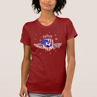 Ladies Petite Girls US soccer t-shirt