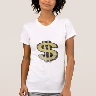 Ladies Petite Tee with Big Yellow Dollar Sign