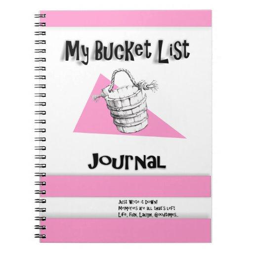 Ladies Pink Bucket List Journal Spiral Note Book