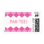 Ladies Pink Golf Argyle Par-Tee Stamp