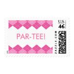 Ladies Pink Golf Argyle Par-Tee Stamps