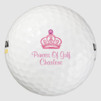 Ladies Pink Monogram Golf Golf Balls