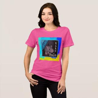 "Ladies, pink ""Rats Rule"" t-shirt"