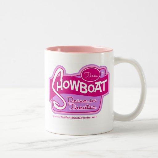 Ladies Pink Showboat Drive in Logo Mug