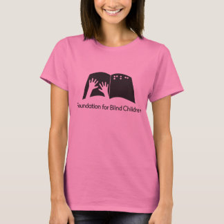 Ladies pink tee with FBC logo