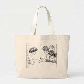 Ladies Play with man Large Tote Bag