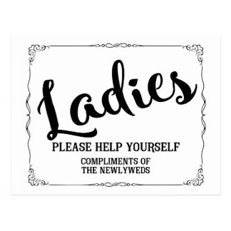 Ladies please help yourself compliments postcard