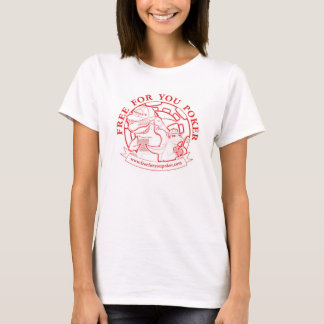 Ladies Poker Player Fitted T-Shirt Red Logo