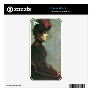 Ladies Portrait by Lovis Corinth Skins For The iPhone 4S