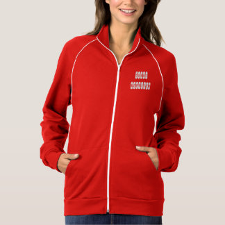 Ladies proud court reporter white letter jacket