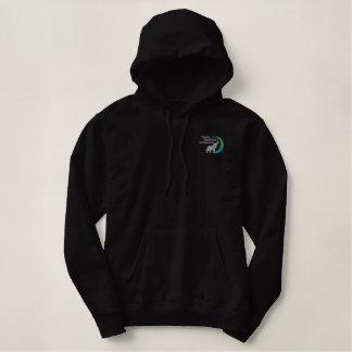 Ladies pullover hoodie in black