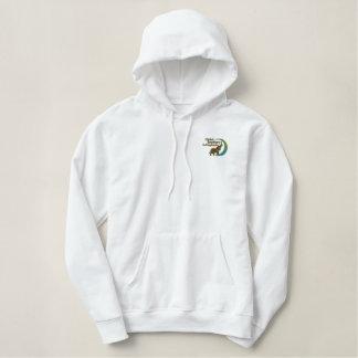 Ladies pullover hoodie in white