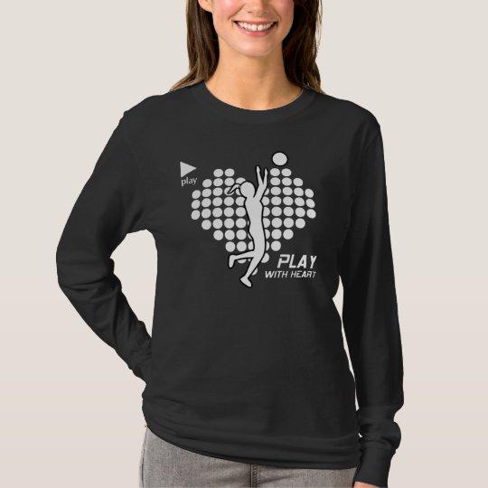 LADIES PUSH PLAY (play with heart) Longsleeve T-Shirt