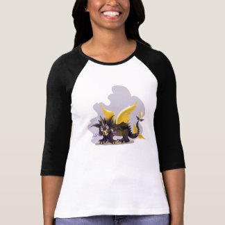 Ladies   raglan shirt with funny black dragon pict