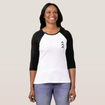 "Ladies Raglan T with small ""lucky few"" arrow T-Shirt"