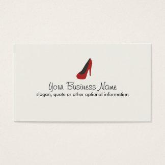 Ladies Red Pump Shoe Boutique Simple Business Card