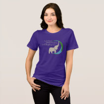 Ladies relaxed fit tee with logo