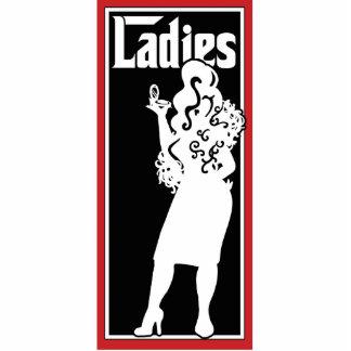 Ladies Restroom/Bathroom sign Statuette