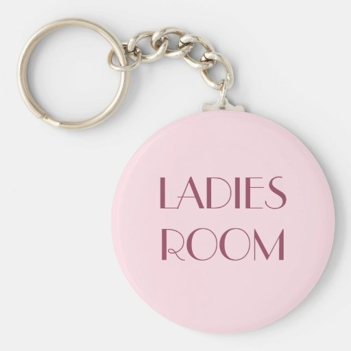 Ladies restroom keyring Basic Round Button Keychain