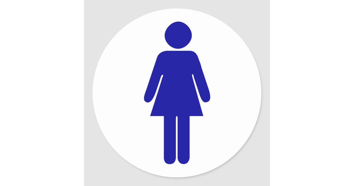 Bathroom Sign Male restroom stickers | zazzle