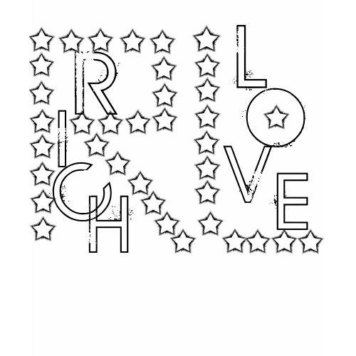 LADIES RICH LOVE STAR HOODY shirt