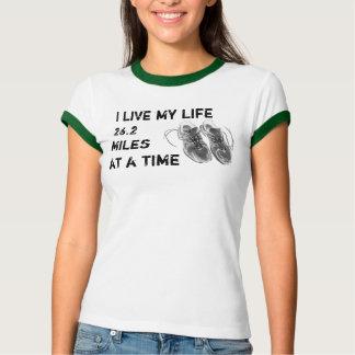Ladies' Ringer - Life 26.2 miles at a time Shirt