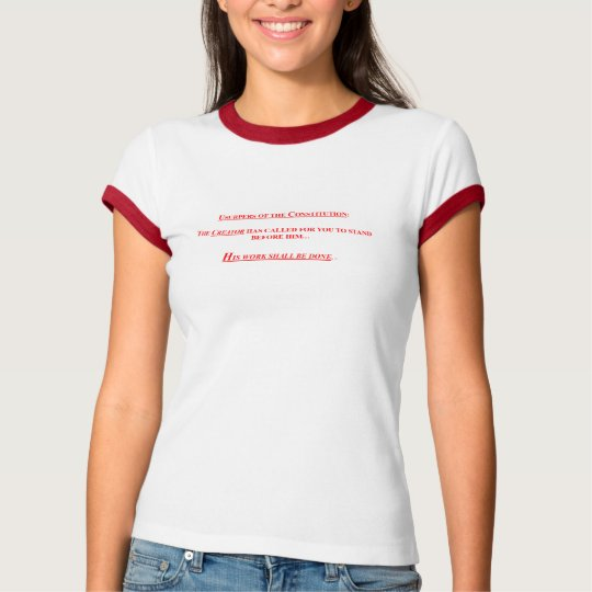 Ladies Ringer Short Sleeve T-Shirt w/ USUPERS OF