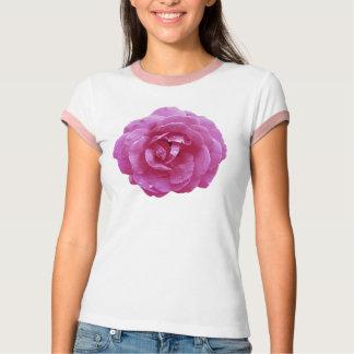 Ladies' Ringer Tee - Dark Pink Rose