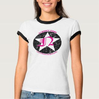 Ladies Ringer Tshirt Black / HP logo