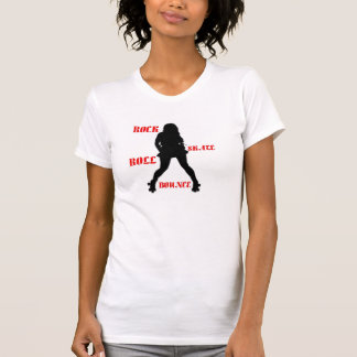 Ladies Rock Skate Roll Bounce T-Shirt - Red