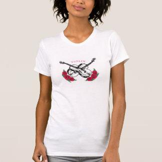 Ladies Roses and Violin Shirt-Medium