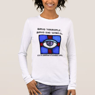 "Ladies ""Save the World"" Long Sleeve (Fitted) Long Sleeve T-Shirt"