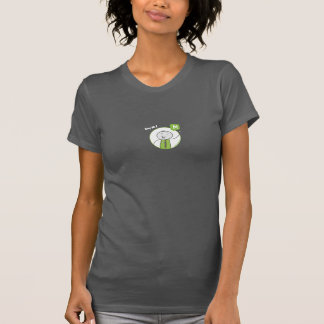 "Ladies ""Say Hi!"" T-Shirt — Charcoal Gray"