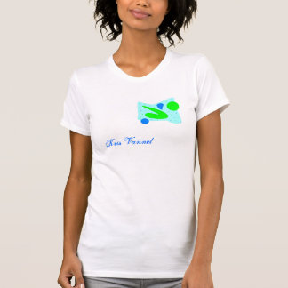 Ladies Sheer V-Neck (Fitted) Tee Shirt