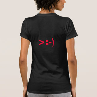 """"""">:-)"""" Ladies Sheer V-Neck (Fitted) Tshirts"""
