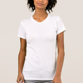 Ladies Sheer V-Neck (Fitted White) T Shirt