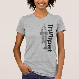 Ladies Sheer V-Neck Trumpet Tee Shirts