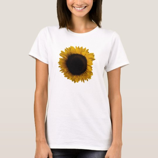 Ladies Shirt with a giant sunflower