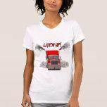 "Ladies Shirt with ""LITE'M UP!"" design"