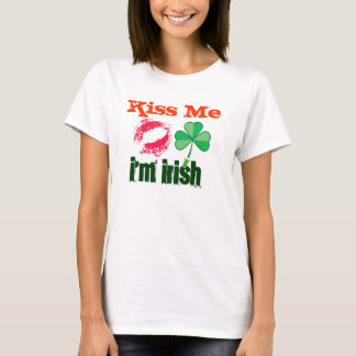 Ladies short sleeve Kiss me I'm Irish T-Shirt
