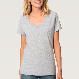 Ladies Short Sleeve Silver V-Neck T-Shirt
