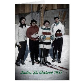 Ladies Ski Weekend 1957 Photo Card