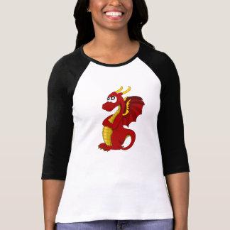 Ladies  Sleeve  with dragon cartoon T-Shirt