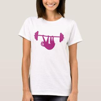 Ladies sloth gym tee (Pink)