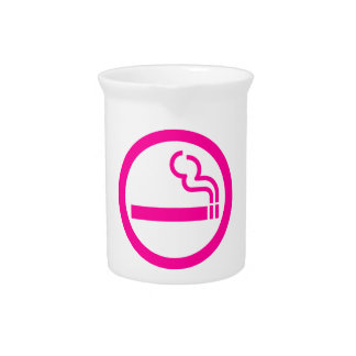 Ladies Smoking Area 喫煙女性 Japanese Sign Drink Pitcher